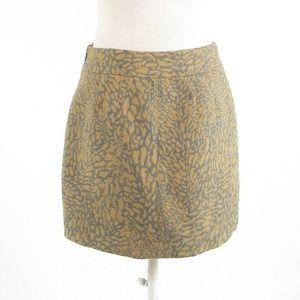 Beige gray abstract ANN TAYLOR LOFT A-line skirt 2